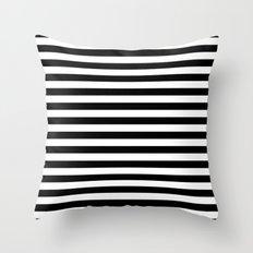 Modern Black White Stripes Monochrome Pattern Throw Pillow