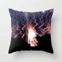 Cloud of fire Throw Pillow