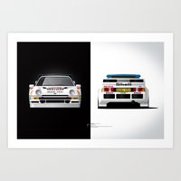 Group B Edition, N.º4, Ford RS200 Art Print