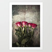 roses Art Prints featuring Roses by Maria Heyens