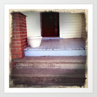 Front Steps to Immortality Art Print
