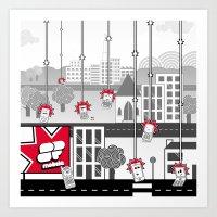SF Mobile World Art Print