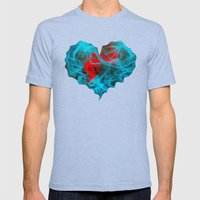 Two Hearts Mens Fitted Tee Tri-Blue SMALL