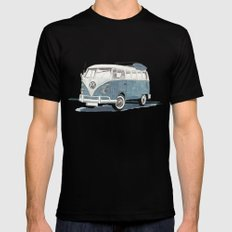 Volkswagen Transporter Mens Fitted Tee SMALL Black