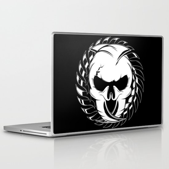 Skull Head Two Laptop & iPad Skin