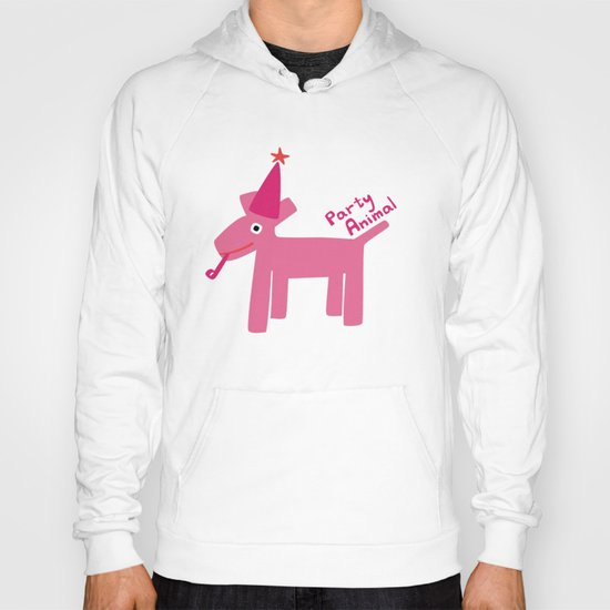 Party Animal-Pink Hoody