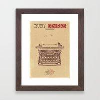 Ruby Sparks Framed Art Print