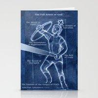 Full Armor of God - Warrior 4 Stationery Cards
