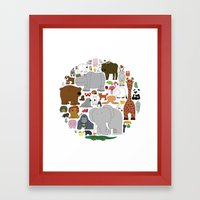 The Animal Kingdom Framed Art Print