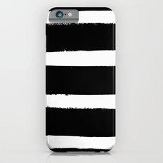 Black & White Paint Stripes by Friztin Slim Case iPhone 6s