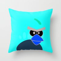 Angry Birds Breaking Glass Throw Pillow