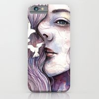 Dreams of freedom, watercolor artwork iPhone 6 Slim Case