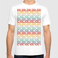 Summer Chevron  Mens Fitted Tee White SMALL