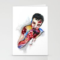zombie Stationery Cards featuring Zombie by Camille Ratté
