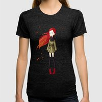 Autumn Breeze Womens Fitted Tee Tri-Black SMALL