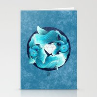 underwater guardians - fishes Stationery Cards