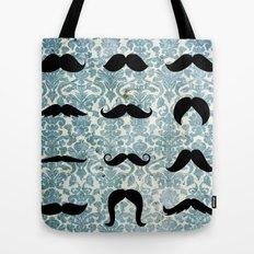 The Moustache Grid  Tote Bag