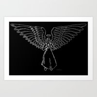 Angel In White 1 Art Print