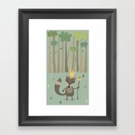 The King Of The Woods Framed Art Print