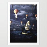 Madonna With Child (on T… Art Print