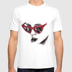Lolita  SMALL Mens Fitted Tee White