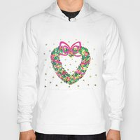 Xmas Heart Wreath Hoody