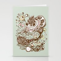 Zentangle Green Flower R… Stationery Cards