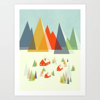 The Foothills Art Print