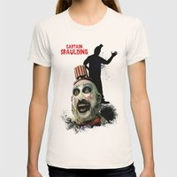 Captain Spaulding: Monst… Womens Fitted Tee Natural SMALL