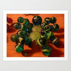 Green Spider Art Print