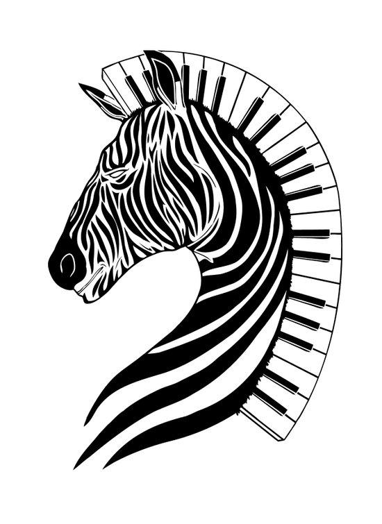 Zebra Clef Art Print