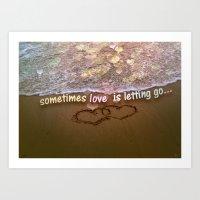 Letting Go  Art Print