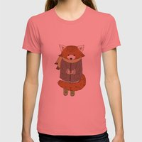 Aristote Womens Fitted Tee Pomegranate SMALL