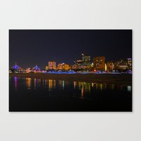 Zakim Bridge At Night  Canvas Print