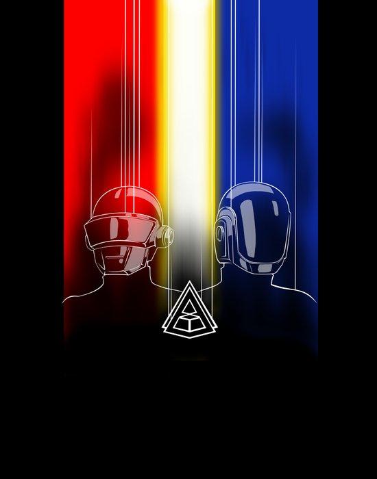 Daft Punk: The Daft Frontier Art Print