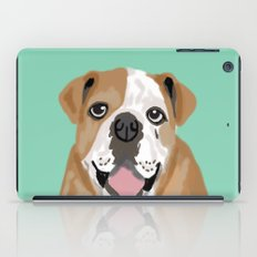 Roscoe - English bulldog dog dogs pet pets gifts for dog person dog people  iPad Case