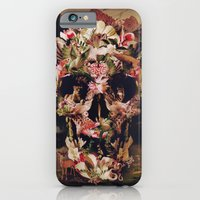 collage iPhone & iPod Cases featuring Jungle Skull by Ali GULEC