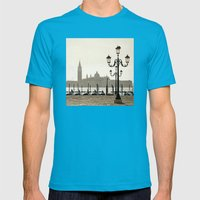 Sunny Morning at San Marco Mens Fitted Tee Teal SMALL