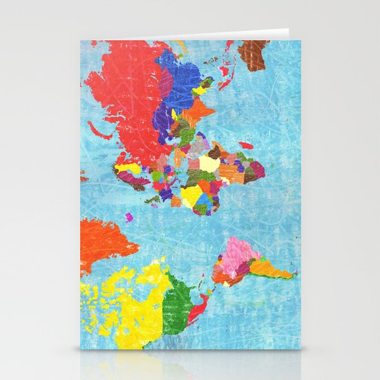 world map Stationery Card