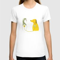 LOVE AND DOGS part 2 Womens Fitted Tee White SMALL