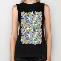 Abstraction Repeat Pink Biker Tank