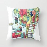 Illustrator to the Bone Throw Pillow