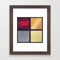 Four Squares 001 Framed Art Print