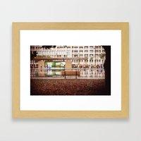 Lonely Bench Framed Art Print