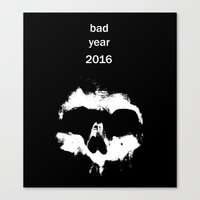 Bad year 2016 Canvas Print