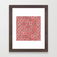 Picture Frames Coral Framed Art Print