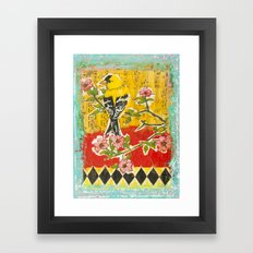 Goldfinch on Dogwood Framed Art Print
