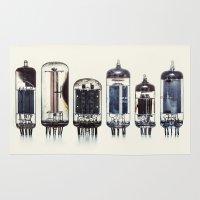 Vintage Amplifier Tubes Rug