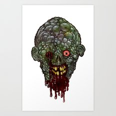 Heads of the Living Dead  Zombies: Pus Zombie Art Print