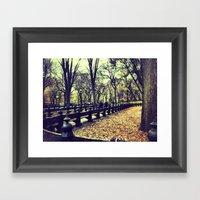 Fall At Central Park Framed Art Print